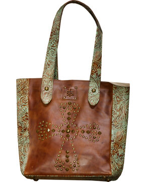 STS Ranchwear Trinity Tote , Turquoise, hi-res