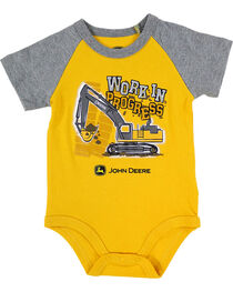 "John Deere Infants' ""Work"" Onesie, Yellow, hi-res"