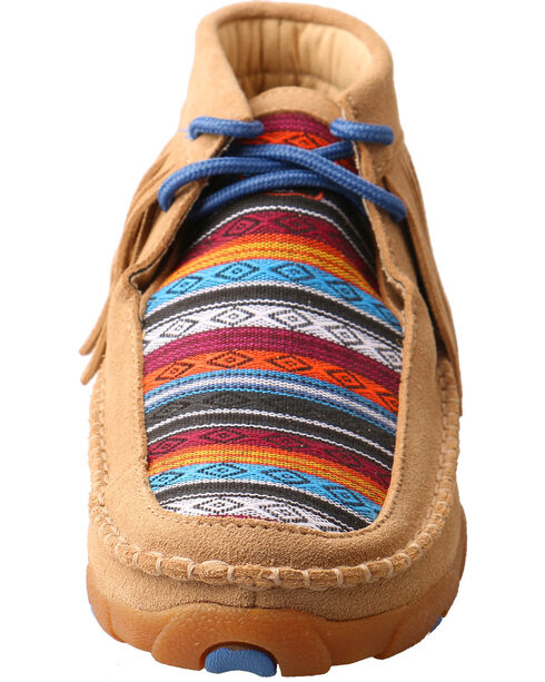 Twisted X Kids' Fringe Driving Moc Shoes, Multi, hi-res