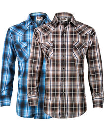 Ely Cattleman Men's Assorted Plaid Long Sleeve Shirt, , hi-res