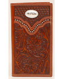 Nocona Men's Leather Checkbook Wallet, , hi-res