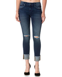 Miss Me Women's Level Up Mid Rise Ankle Jeans - Straight, , hi-res