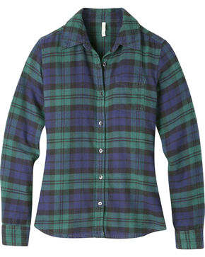 Mountain Khakis Women's Iris Plaid Aspen Flannel Shirt , Navy, hi-res