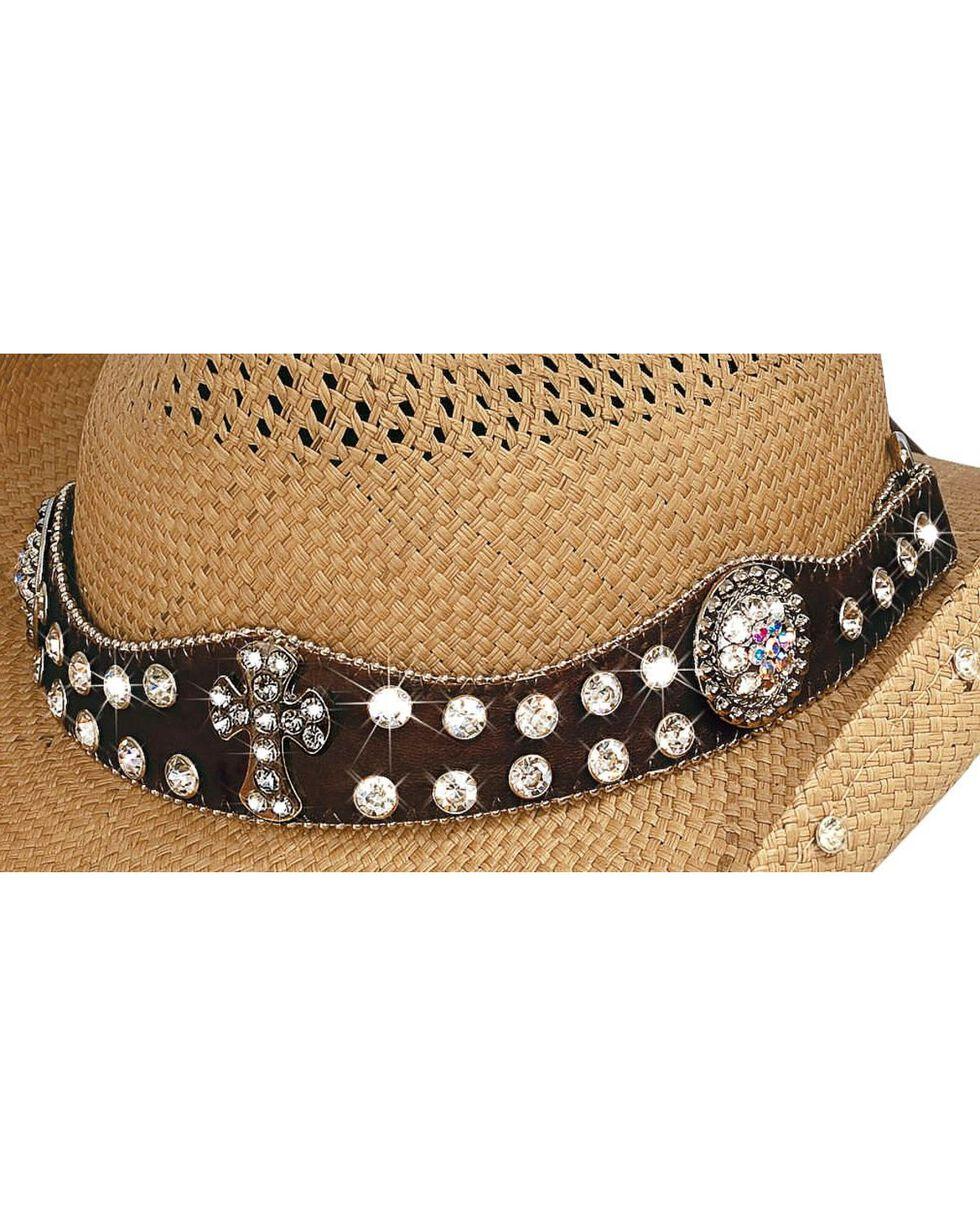 Bullhide Women's More Than Words Straw Hat, Pecan, hi-res