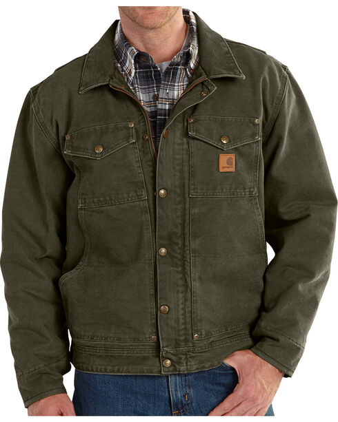 Carhartt Men's Moss Berwick Jacket - Big & Tall, Moss, hi-res