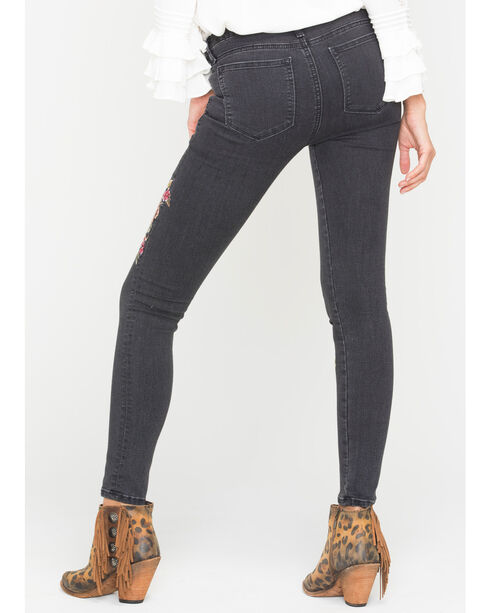 Miss Me Women's Blue Released Hem Jeans - Skinny , Blue, hi-res