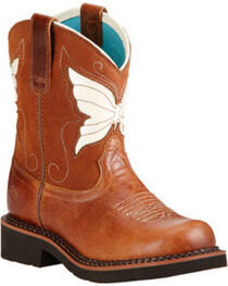 Ariat Girls' Fatbaby Wings Western Boots, , hi-res