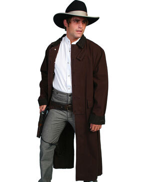 Scully Men's Authentic Canvas Duster, Walnut, hi-res