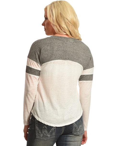Derek Heart Women's Long Sleeve Thermal Top with Neck Straps, , hi-res