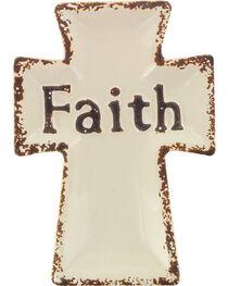 Stonebriar Ceramic Worn Cross Faith Plate, , hi-res