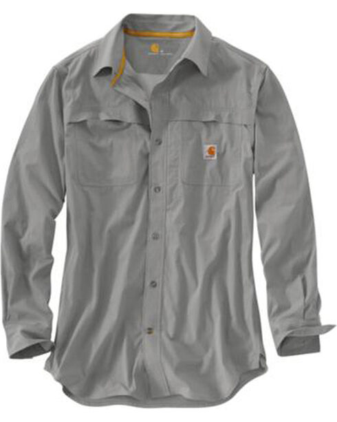 Carhartt Force Mandan Solid Long Sleeve Work Shirt - Big & Tall, Grey, hi-res