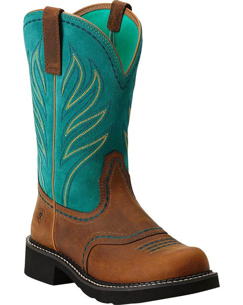 """Ariat Women's Probaby Flame 10"""" Western Boots, Distressed, hi-res"""