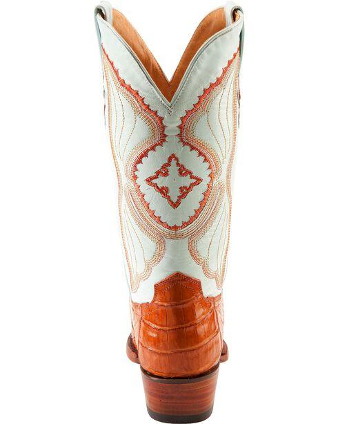 Ferrini Women's Caiman Crocodile Belly Snip Toe Western Boots, Cognac, hi-res