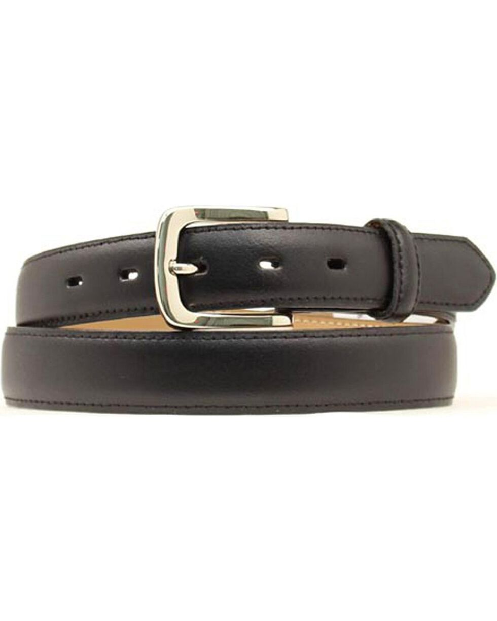 Nocona Smooth Leather Belt, Black, hi-res