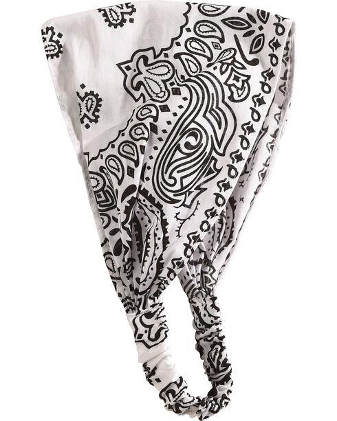 Shyanne Women's White Bandana Headwrap, White, hi-res