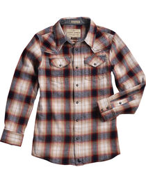 Cody James® Boys' Plaid Long Sleeve Shirt, , hi-res