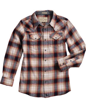 Cody James® Boys' Plaid Long Sleeve Shirt, Multi, hi-res