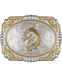 Montana Silversmiths Cameo Horse Buckle, , hi-res