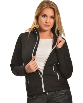 Cowgirl Legend Women's Black Bonded Softshell Jacket , Black, hi-res