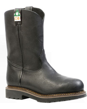 Boulet Everest Black Work Boots - Steel Toe, Black, hi-res