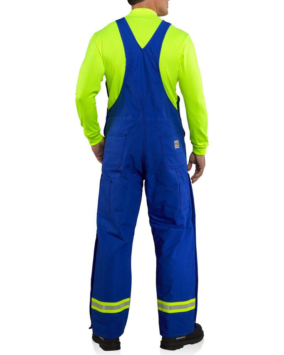 Carhartt Men's Flame Resistant Duck Bib Overalls, Royal, hi-res