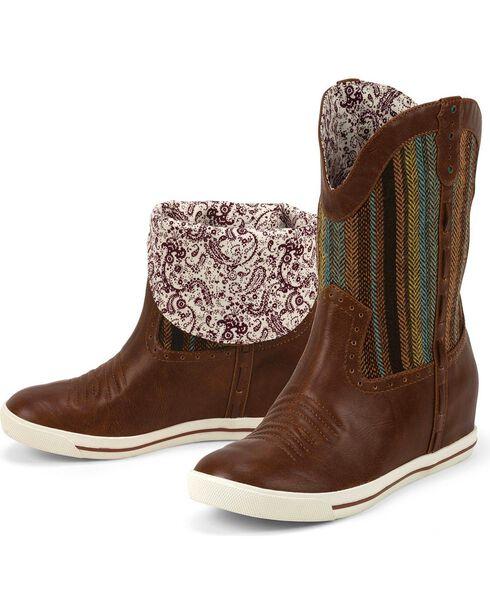 Justin Women's Aztec Gypsy Dust Boots, Caramel, hi-res