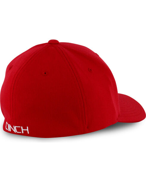 Cinch Men's Solid Red Logo Embroidery Ball Cap, Red, hi-res