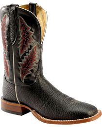 Tony Lama Men's Bull Hide Square Toe Western Boots, , hi-res