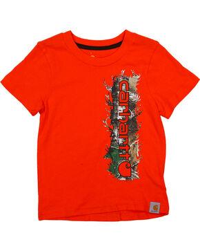 Carhartt Toddler Boy's Camo Logo T-Shirt , Orange, hi-res