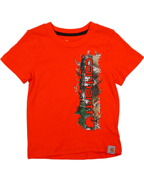 Carhartt Toddler Boy's Camo Logo T-Shirt , Orange, hi-res
