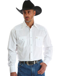 Wrangler Men's White George Strait Troubadour Shirt - Tall, , hi-res