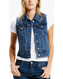 Levi's Women's Washed Denim Vest, , hi-res