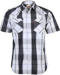 Levi's Men's Short Sleeve Plaid Western Shirt, , hi-res