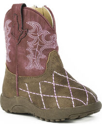 Roper Infant Girls' Cowbaby Cross Cut Pre-Walker Cowgirl Boots, , hi-res