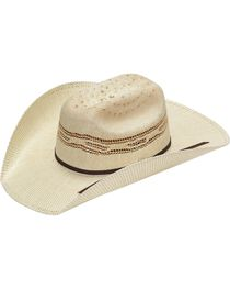 Twister Kids' Tan Bangora Straw Cowboy Hat, , hi-res