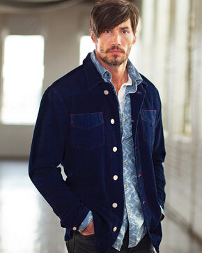 Ryan Michael Men's Chenille Shirt Jacket, Indigo, hi-res