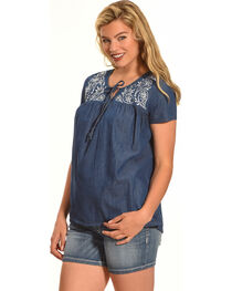 Angel Ranch Women's Paisley Top, , hi-res