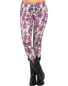 Shyanne® Women's Abstract Aztec Print Leggings, Multi, hi-res