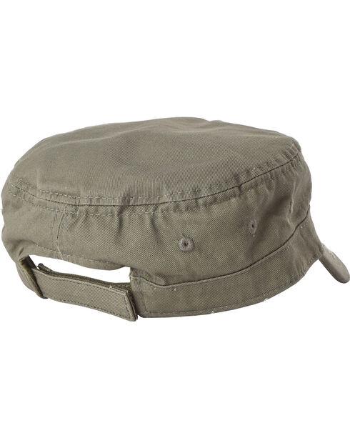 Dorfman Men's Olive Basic Cadet Cap , Multi, hi-res