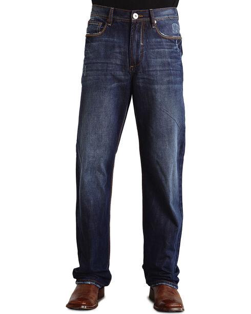 Stetson Men's Standard Straight Leg Jeans, Dark Stone, hi-res