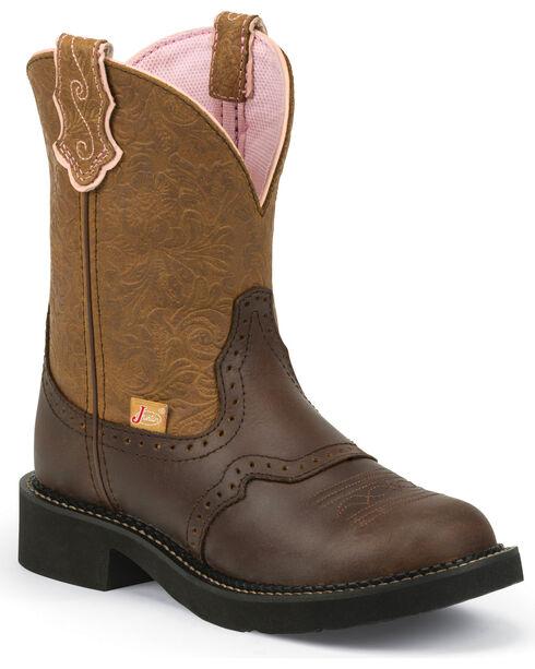 Justin Women's Gemma Western Boots, Tan, hi-res