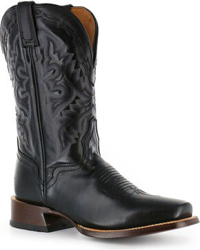 El Dorado Men's Cutter Toe Vanquished Calf Western Boots, Black, hi-res