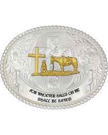 Montana Silversmiths Faith and Wisdom Western Belt Buckle, , hi-res