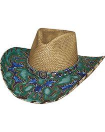 Bullhide Women's Wind Of Change Straw Hat, , hi-res