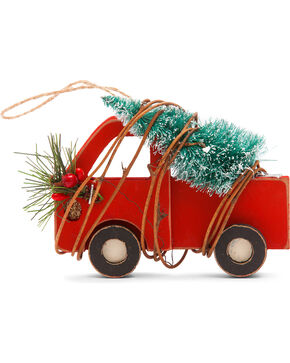 BB Ranch Wooden Truck Ornament, Red, hi-res
