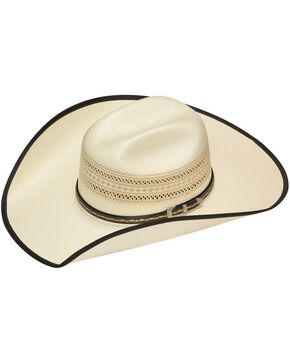 Twister 20X Shantung Bound Edge Buckle Band Straw Cowboy Hat, Tan, hi-res
