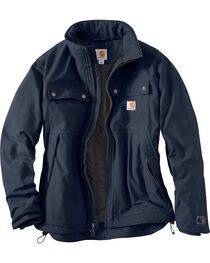Carhartt Men's Navy Quick Duck Jefferson Traditional Jacket , , hi-res