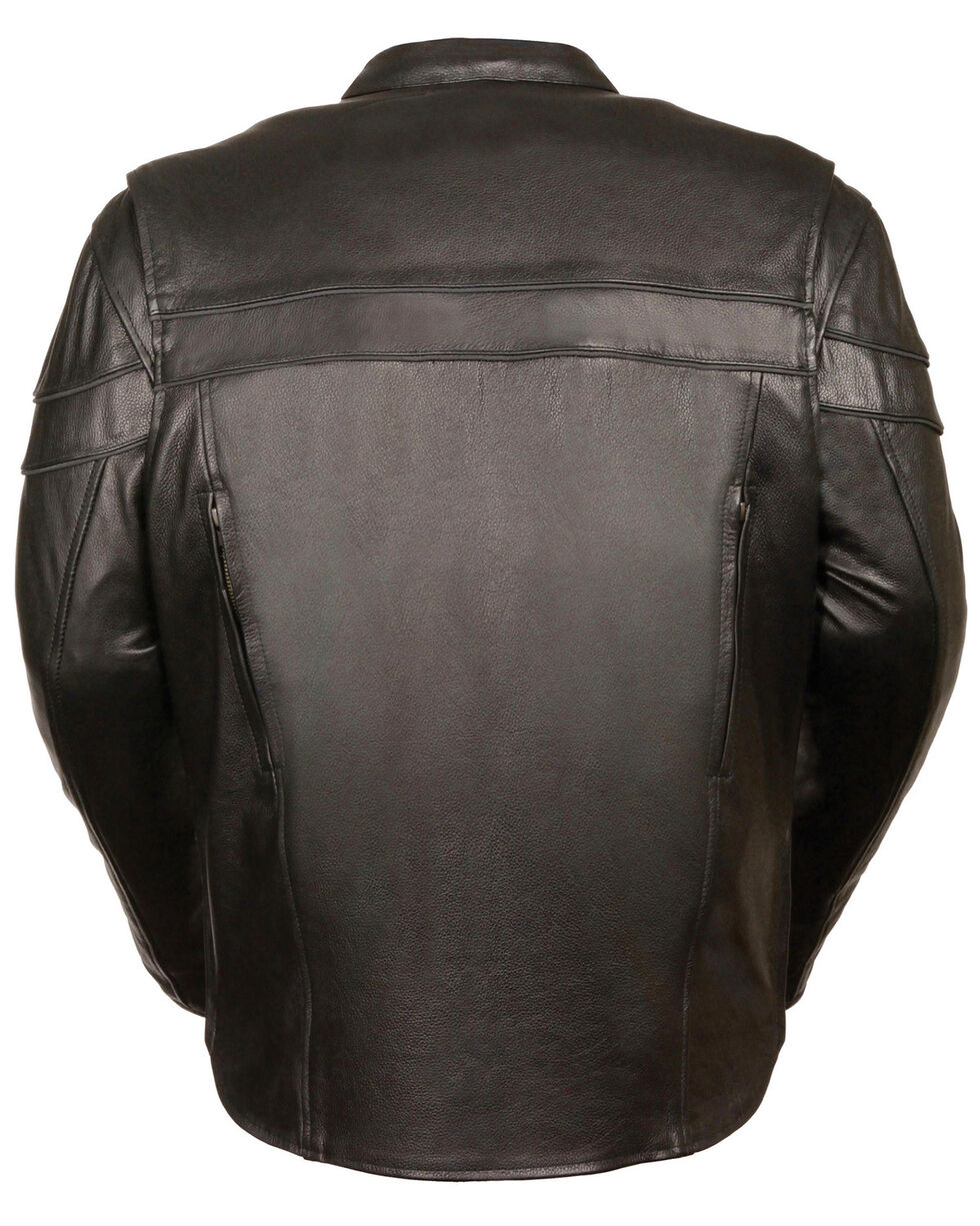 Milwaukee Leather Men's Sporty Scooter Crossover Jacket - 3X, Black, hi-res