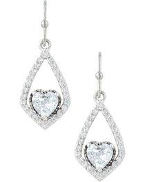Montana Silversmiths Women's Swinging Heart Earrings , , hi-res