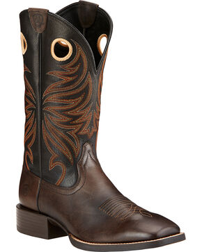 Ariat Men's Sport Rider Western Boots, Chocolate, hi-res
